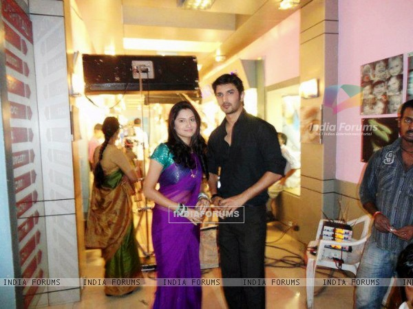 Sushant Singh Rajput and Ankita Lokhande Shooting For Pavitra Rishta