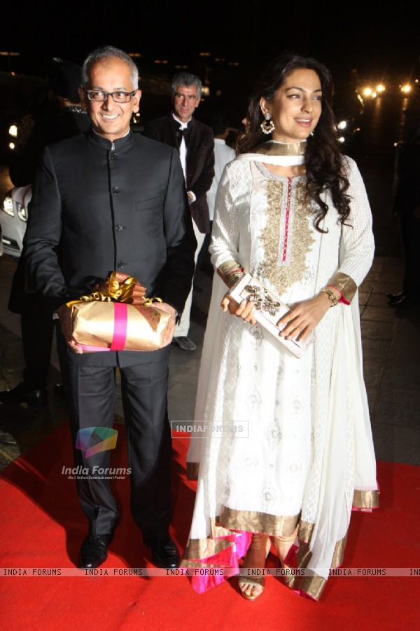 Juhi Chawla with husband Jai Mehta at Karan Johar's 40th Birthday Party