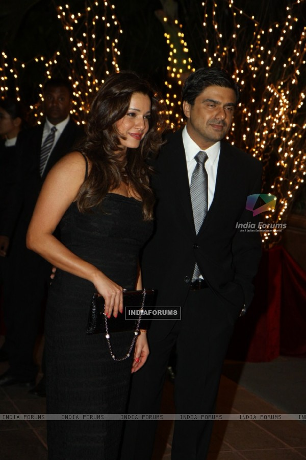 Neelam with husband Sameer Soni at Karan Johar's 40th Birthday Party