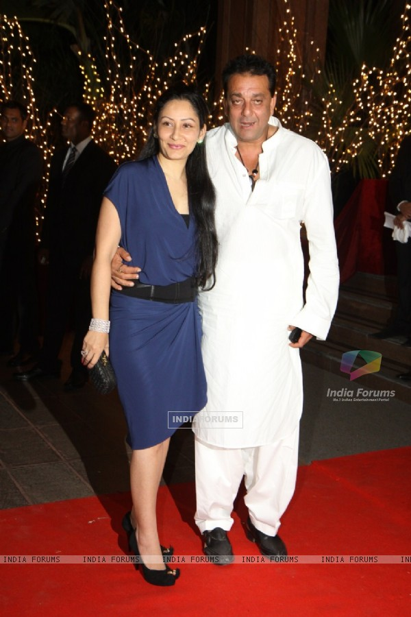 Sanjay Dutt with wife Manyata at Karan Johar's 40th Birthday Party