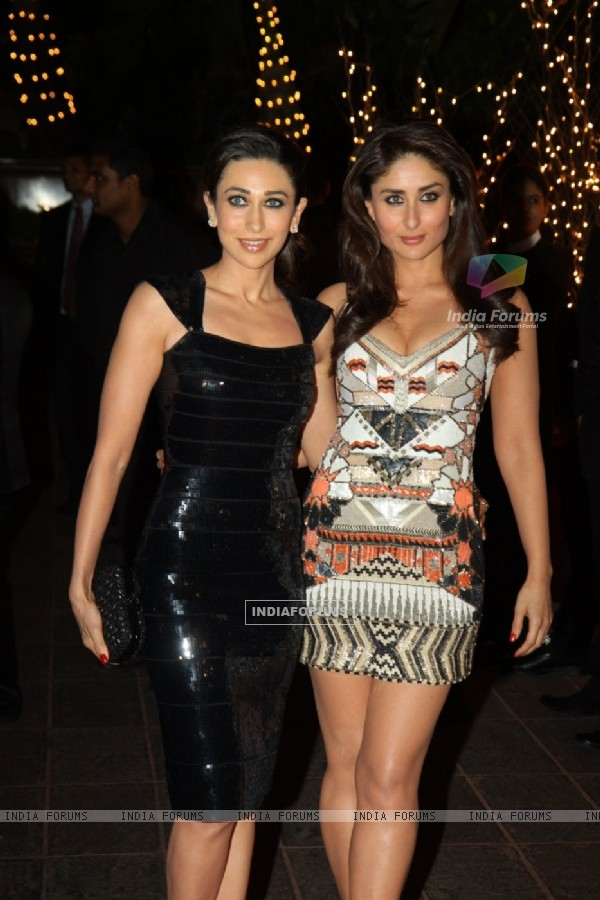Karishma Kapoor and Kareena Kapoor at Karan Johar's 40th Birthday Party