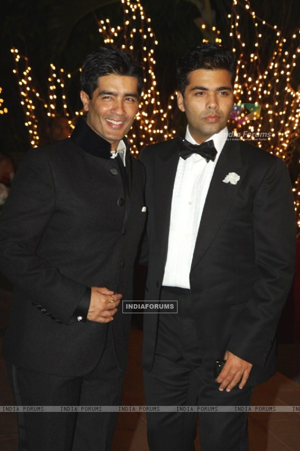 Manish Malhotra with Karan Johar at his 40th Birthday Party