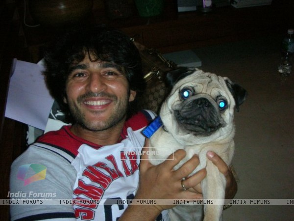 Hiten with his Dog Beckham