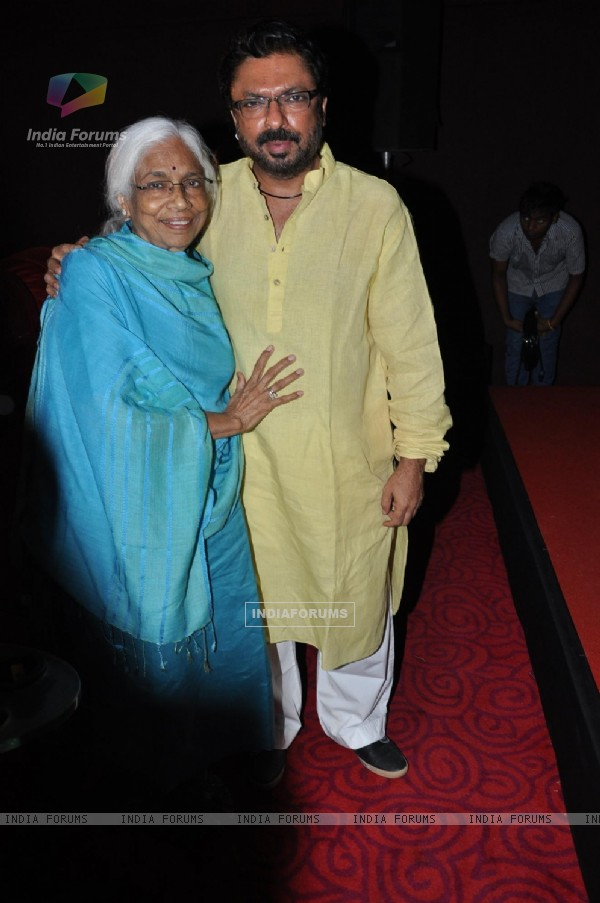 Sanjay Leela Bhansali and Leela Bhansali at First look launch of film Shirin Farhad Ki To Nikal Padi