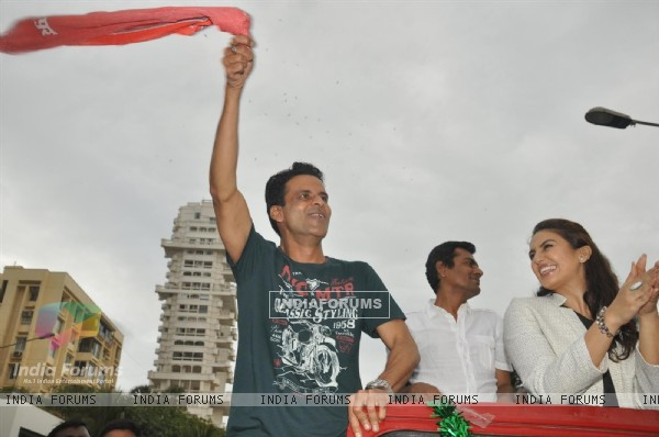Manoj Bajpai and Huma Quershi at Music Launch of Gangs of Wasseypur