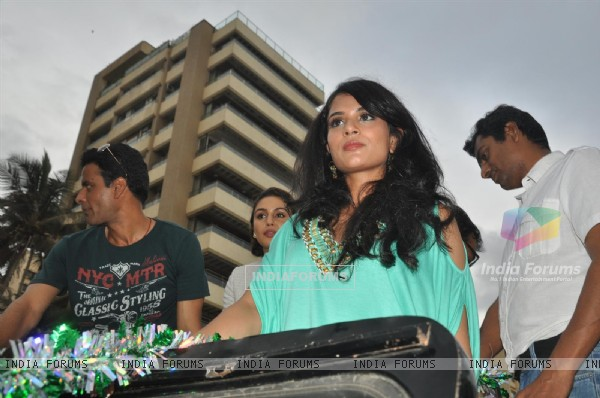 Manoj Bajpai and Richa Chadda at Music Launch of Gangs of Wasseypur