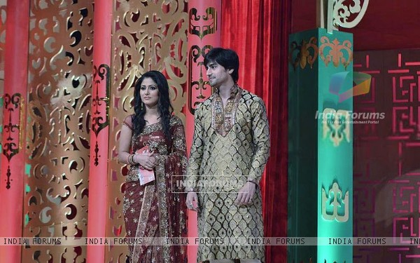 Harshad Chopra and Hina Khan