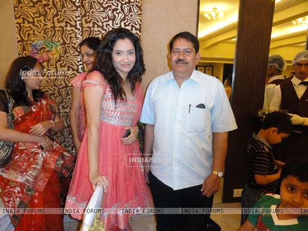 Ankita Lokhande With Her Relative
