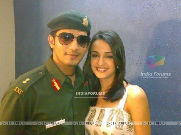 Sanaya Irani on the sets of Left Right Left