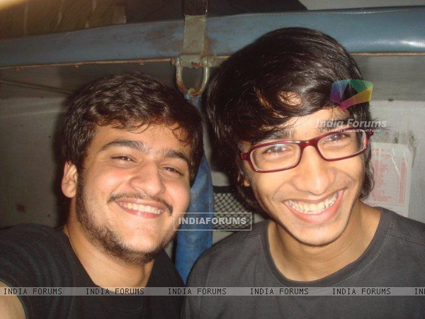 Shantanu with a friend