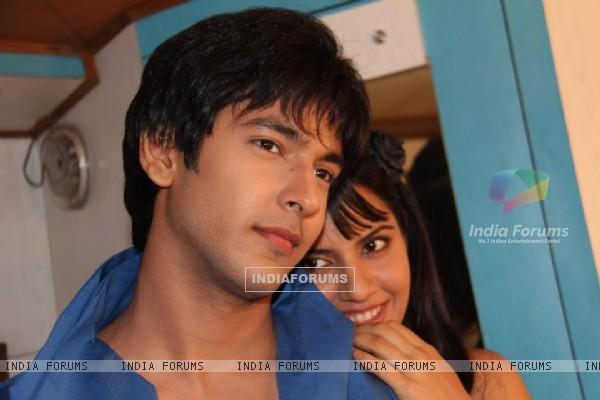 Shivin Narang and Smiriti Kalra on the sets of 'Suvreen Guggal - Topper of the Year'
