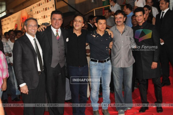 Boman Irani, Vidhu Vinod Chopra, Aamir Khan, Sharman Joshi at the premiere of 'Ferrari Ki Sawaari'