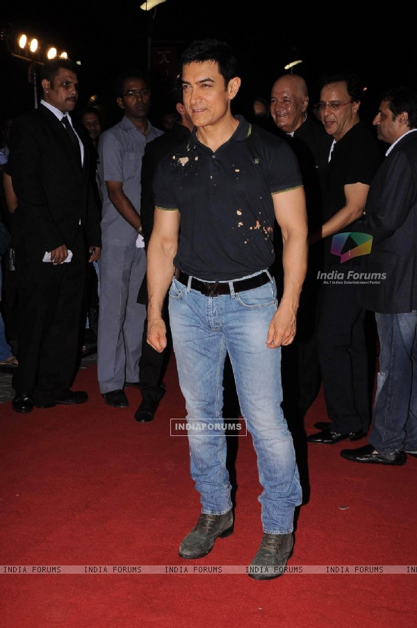 Aamir Khan at the premiere of film 'Ferrari Ki Sawaari'