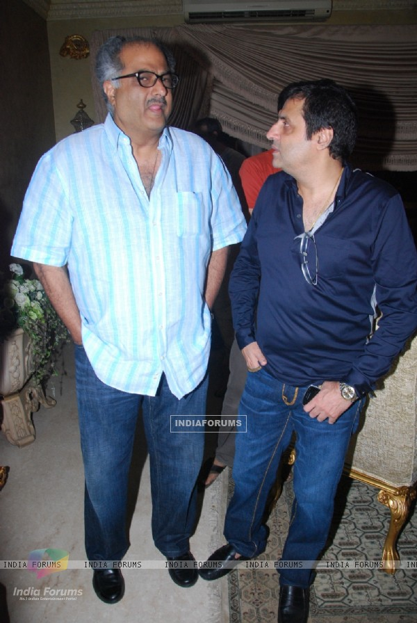 Boney Kapoor and Sunil Lulla at Mika Singh's Birthday Bash