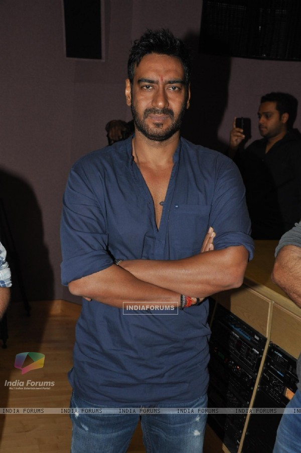 Ajay Devgn at Song Recording of Film Himmatwala - 2