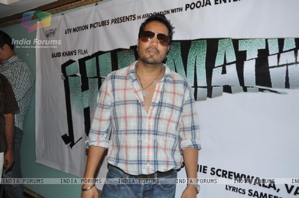 Mika Singh at Song Recording of Film Himmatwala - 2
