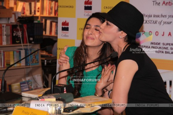 Pooja Makhija and Preity Zinta at crossword for book launch eat.delete