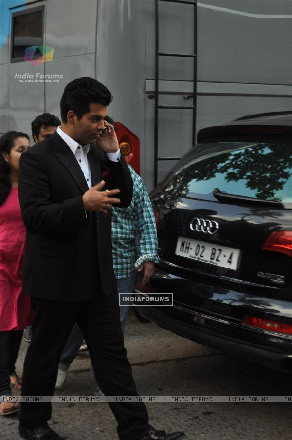 Karan Johar on the set of Jhalak Dikhhala Jaa