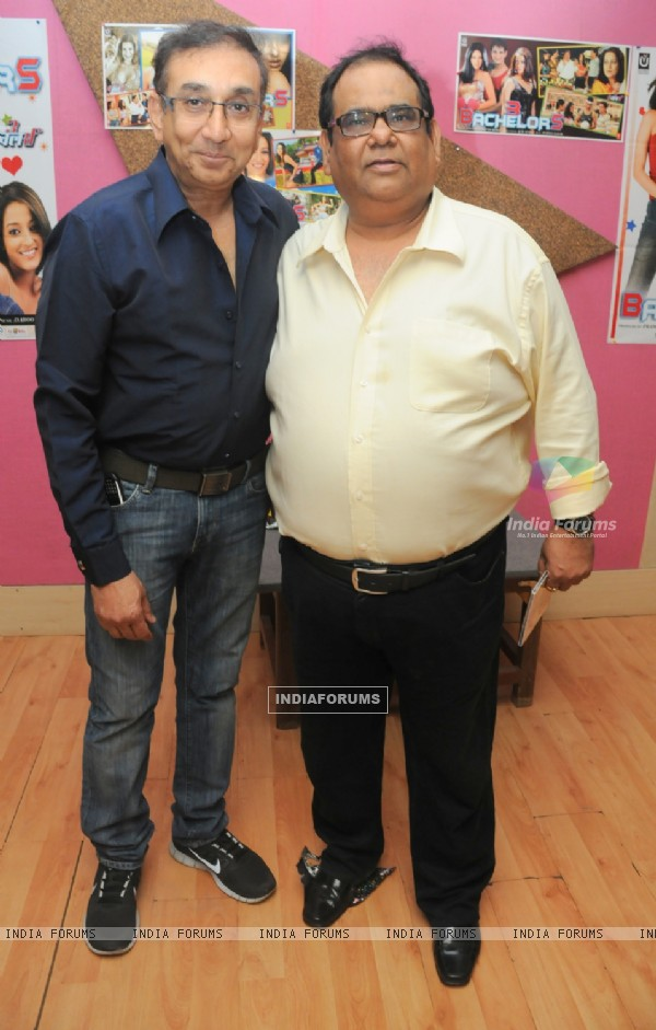 Satish Kaushik and Ajai Sinha at Launch of the Audio of Pramod Sharma's Film 3 Bachelors