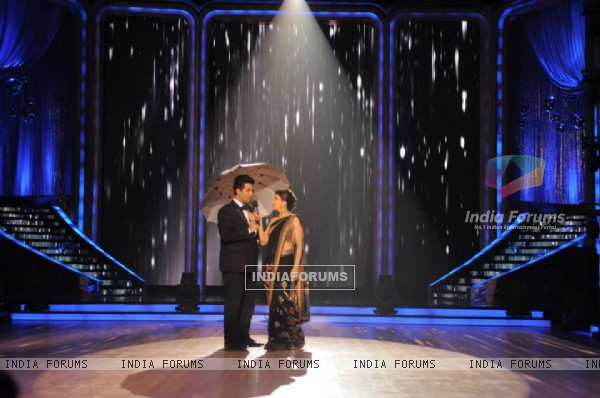 Madhuri Dixit and Karan Johar on Jhalak