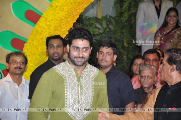 Abhishek Bachchan at Esha Deol and Bharat Takhtani wedding ceremony