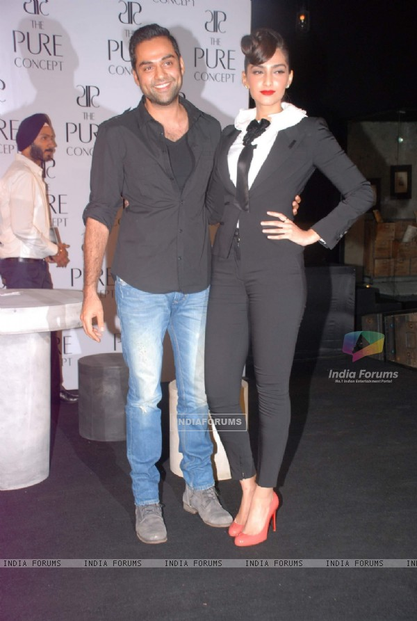 Abhay Deol and Sonam Kapoor at the launch of Pure Concept