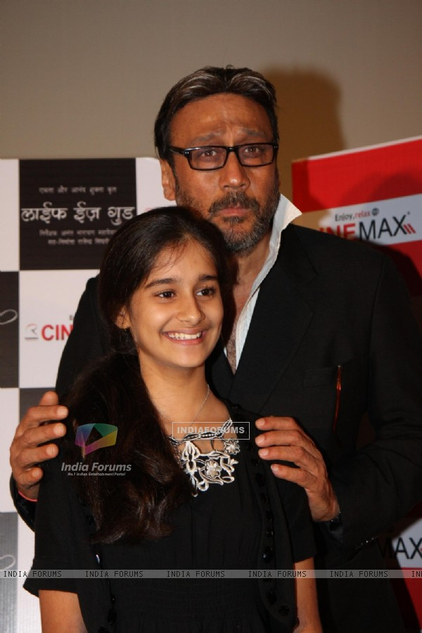 Jackie Shroff and Ananya Vij at Launch of 'Life's Good' promo