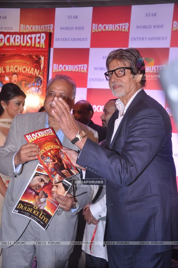 Bollywood actor Amitabh Bachchan at Blockbuster magazine launch in Novotel, Mumbai. .