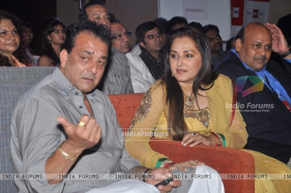 Bollywood actors Sanjay Dutt and Jaya Prada at Blockbuster magazine launch in Novotel, Mumbai. .