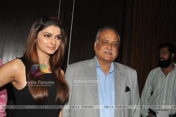 Prachi Desai and TP Agarwal at Launch of T P Aggarwal's trade magazine 'Blockbuster'