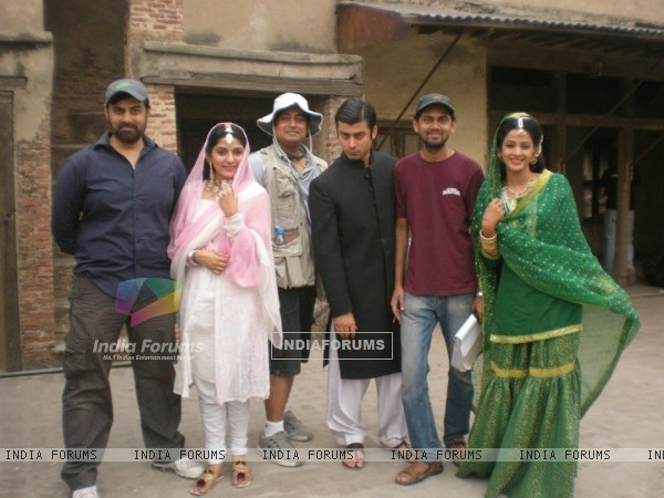 Fawad & Sanam -Dastann cast on the set