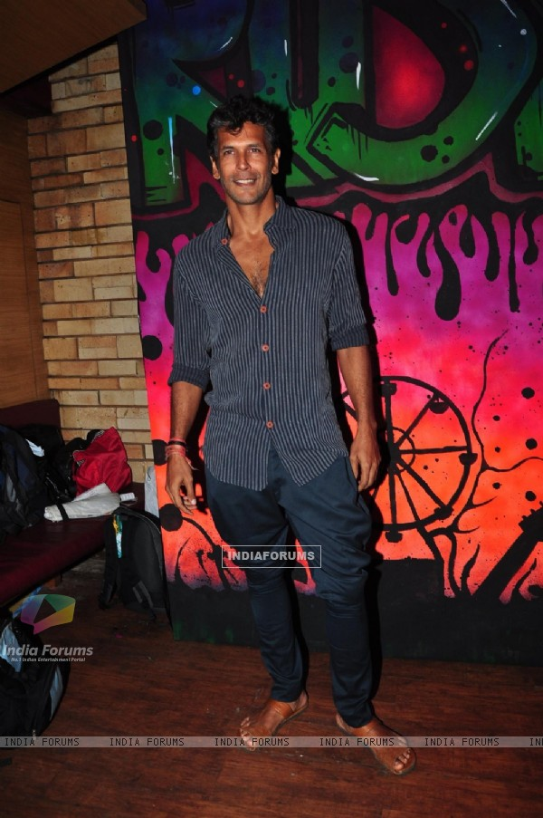 Milind Soman at Launch of MTV's new show MTV Rush