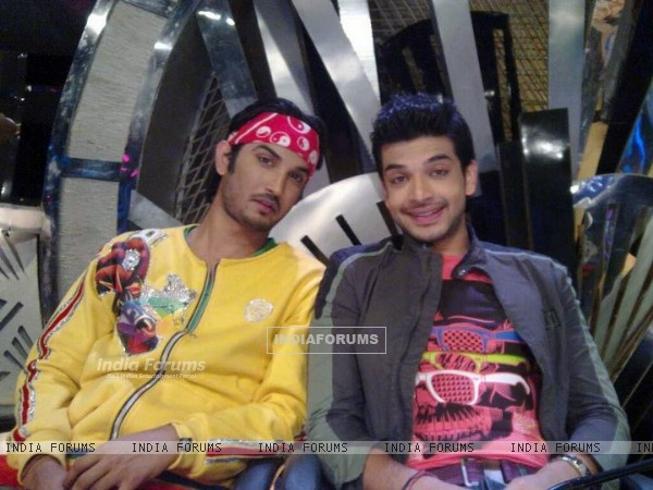 Sushant Singh Rajput And Karan Kundra On The Sets Of Zara Nachke Dikha