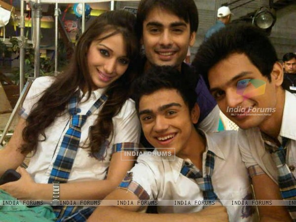 Yuraj Thakur with Heli, Rohan and Varun