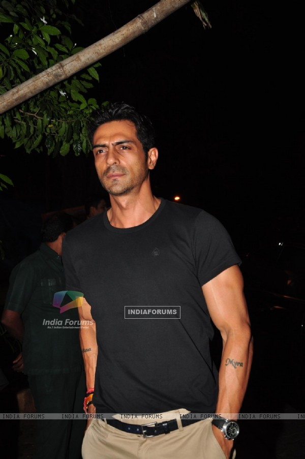 Arjun Rampal at Film 'Cocktail' success party at olive bar, Bandra