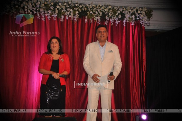 Farah Khan and Boman Irani at poster and music launch of film Shirin Farhad Ki Toh Nikal Padi