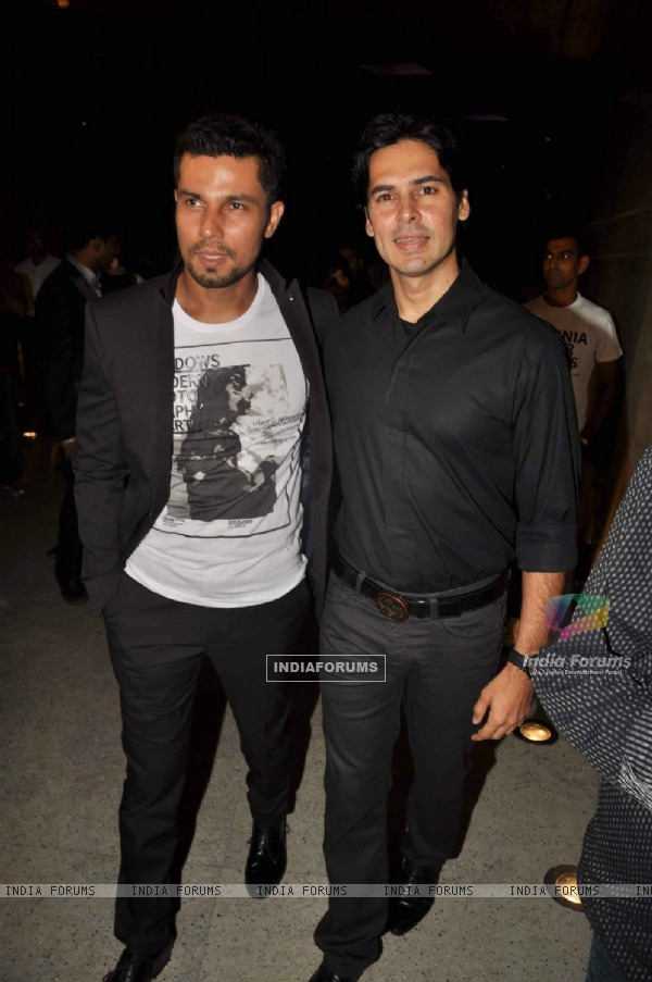 Bollywood actors Randeep Hooda and Dino Morea at Jism 2 Press Conference, Grand Hyatt Mumbai India. .