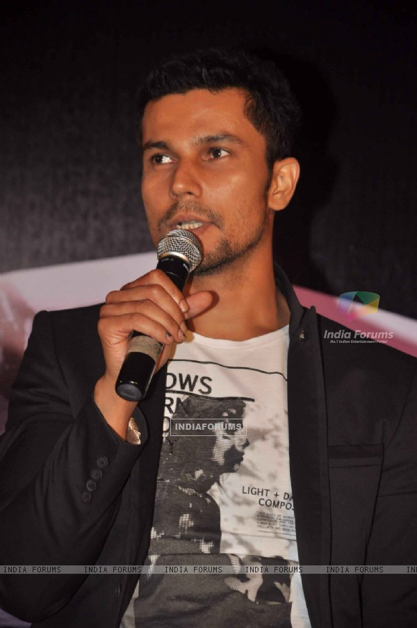 Bollywood actor Randeep Hooda at Jism 2 Press Conference, Grand Hyatt Mumbai India. .