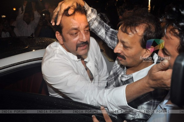 Bollywood actor Sanjay Dutt at Baba Siddique's Iftar party in Taj Lands End, Mumbai .