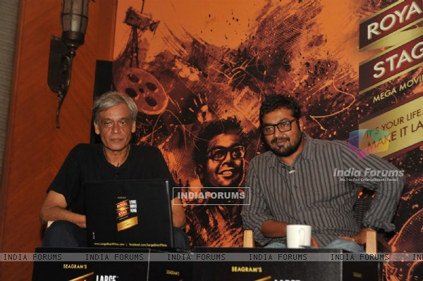 Bollywood Directors Sudhir Mishra & Anurag Kashyap at Press Conference of Large Short Film in JW Marriott, Mumbai