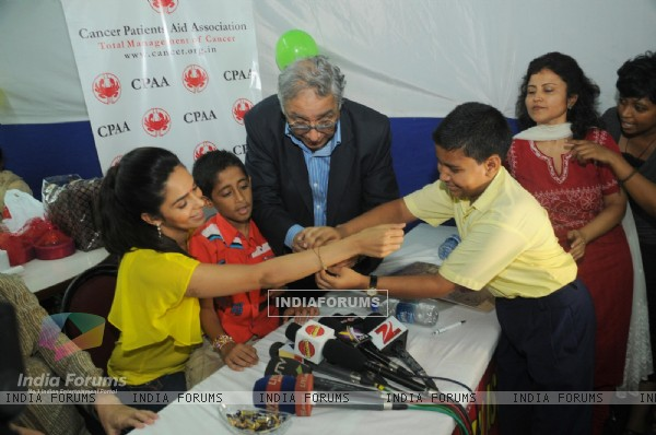Mallika Sherawat at Cancer Patients Aid Association