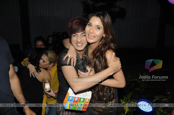 Rohhit Verma with Sara Khan at Sara Khan's Birthday Bash