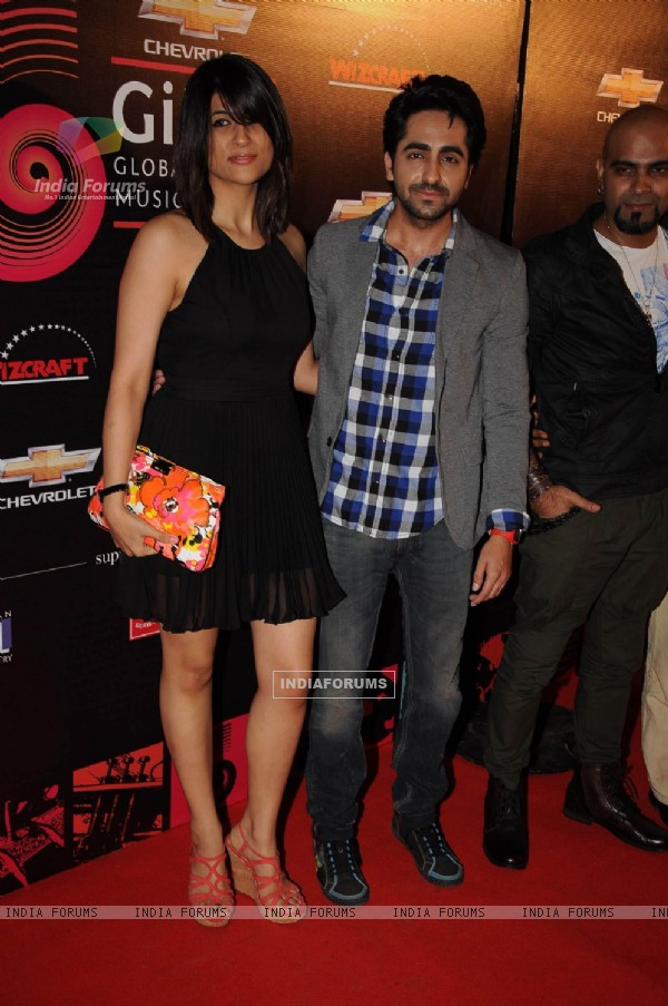 Bollywood actor Ayushman Khurana at Global Indian Music Awards red carpet in J W Marriott, Mumbai. .