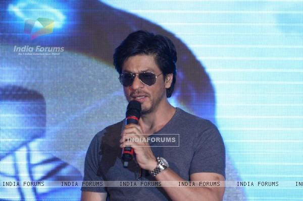 Shahrukh Khan poses during the launch of DDB & Videocon its new Age Led�s