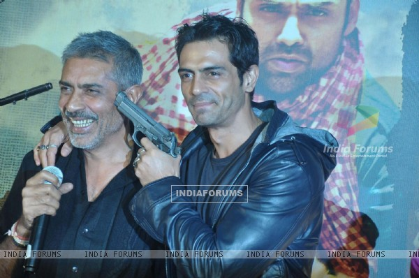 Bollywood actor Arjun Rampal at the launch of Prakash Jha's 'Chakravyuh' in Cinemax, Mumbai. .