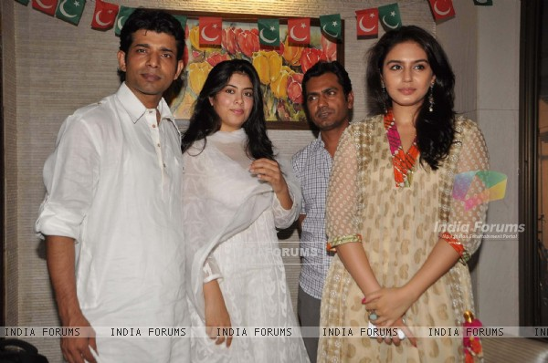Cast of Gangs of Wasseypur - 2 at a Iftar party in Bandra, Mumbai. .