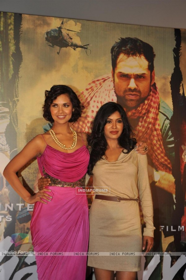 Esha Gupta and Anjali Patil at Unveiling of forthcoming film Chakravyuh