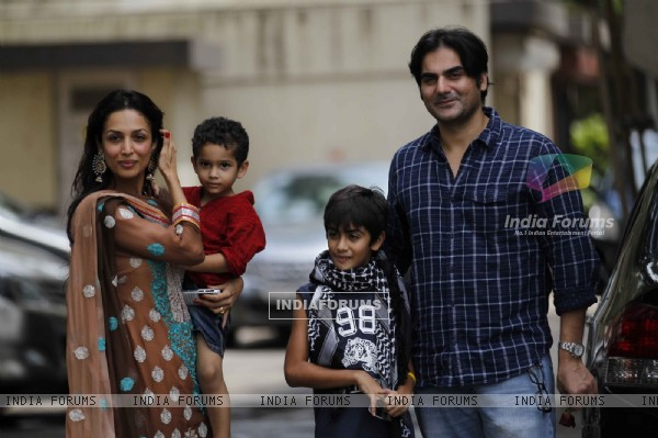 Malaika Arora Khan and Arbaaz Khan with kids On Eid