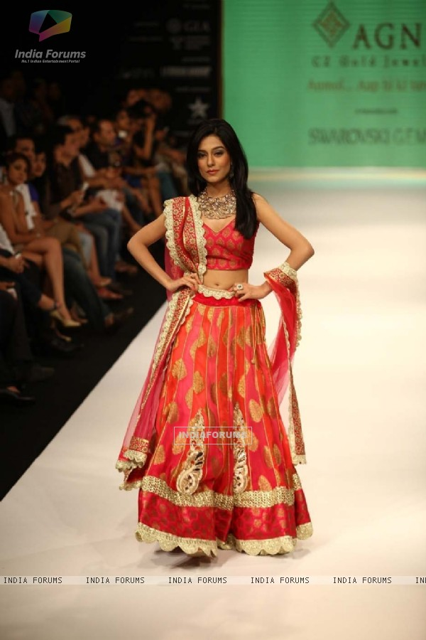 Amrita Rao walking the ramp for Agni Jewellers on Day 2 at IIJW'12 Mumbai