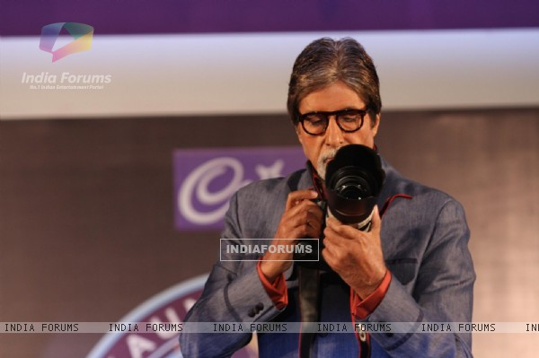 Amitabh Bachchan at the press conference of Kaun Banega Crorepati at Hotel JW Marriott